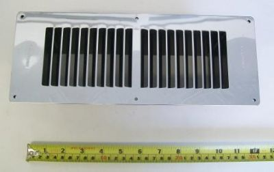 Large Chrome Fuel Effect Gas Fire Floor Vent